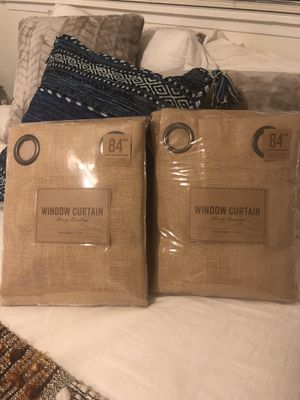 BRAND NEW! 2x 84in World Market Curtains for Sale in Santa Monica, CA