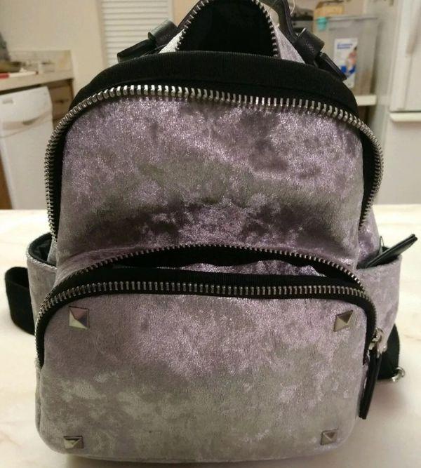 Steve Madden Velvet mini backpack silver