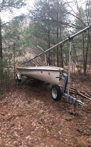 Sailboat WITH TRAILER INCLUDED, Trailer brand new for Sale in Medway, MA