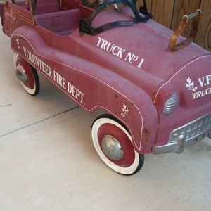 Antique Fire Truck pedal car , all original made in USA for Sale in Rancho Cucamonga, CA