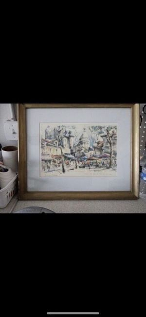 "Framed Art by Marius Girard called ""Paris"" Signed and numbered for Sale in Port St. Lucie, FL"