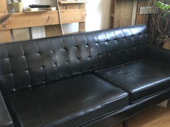 MCM Black Leather Couch for Sale in Brooklyn,  NY