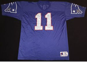 Vintage 90s Champion New England Patriots Drew Bledsoe Mens Jersey Size 52 for Sale in Fontana, CA