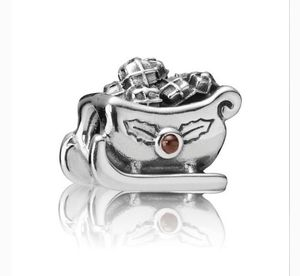 Pandora Santa sleigh with two garnet gem stones in both sides for Sale in Fresno, CA