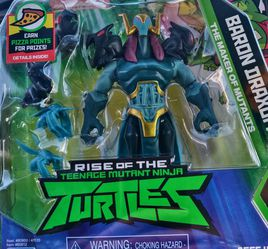 """NICKELODEON RISE OF THE TEENAGE MUTANT NINJA TURTLES TMNT BARON DRAXUM FIGURE. Condition is """"New"""". These Turtle Toys Are Going To Be Tough To Find So for Sale in Huntington Beach,  CA"""