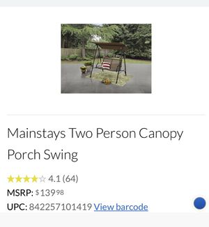 Mainstay two person canopy porch swing for Sale in Lancaster, CA
