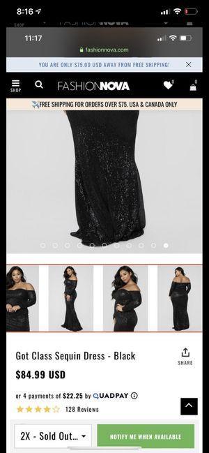 black dress 2x for Sale in Buckeye, AZ