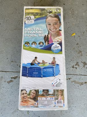 10 ft intex pool metal frame for Sale in Macomb, MI