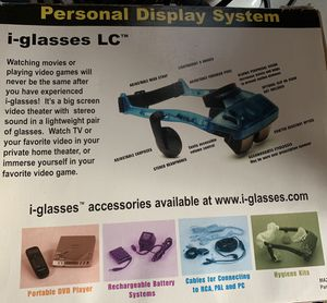 I-glass personal theater display system for Sale in Austin, TX