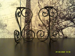 Set of 2 Wrought Iron Candle Holders for Sale in Willow Springs, IL