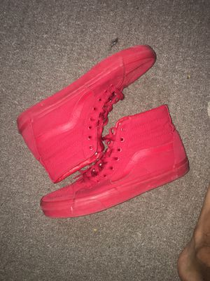 red high top vans (size 11.5) for Sale in Los Angeles, CA