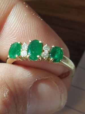 Antique Emerald and diamond gold Ring for Sale in La Crosse, WI