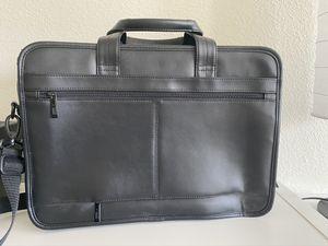 Black leather briefcase samsonite brand for Sale in Celebration, FL