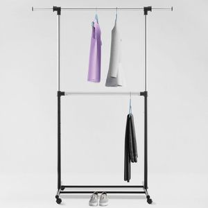 Metal Base Adjustable Rod Garment Rack Black - Room Essentials™ for Sale in Miami, FL