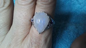 Unique Carved 5 Carat Moonstone ring with Tanzanite accents. for Sale in TWN N CNTRY, FL