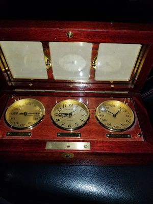 Antique Asprey Desk Clock, Thermometer, Barometer for Sale in Mission, TX