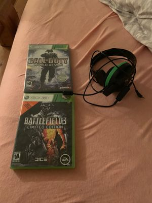 Willing to sell my 2 Xbox 360 games and my turtle beach headphones for Sale in Aurora, CO