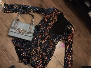 Sequined F21 Romper Size Small NWT + Guess Handbag $10 for Sale in Whittier, CA