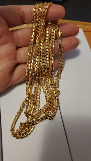24 inch Gold plated Cuban link chain for Sale in Los Angeles, CA