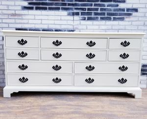 French provincial/ shabby chic.Dresser.10 drawers. Cottage white for Sale in Costa Mesa, CA