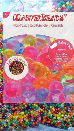 MarvelBeads Water Beads Rainbow Mix (1 Pound Bulk), for Kids Sensory Play and Spa Refill, BPA & Phthalate Free for Sale in Henderson,  NV