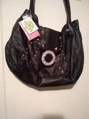 New Charm and Lucky black leather purse for Sale in Grosse Pointe Woods, MI