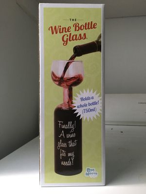 Wine Bottle Glass (Full bottle in a glass) for Sale in Raleigh, NC