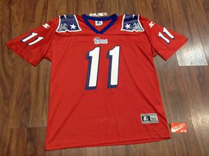 New England Patriots drew Bledsoe jersey vintage sports starter size XL rare red color way for Sale in Stockton, CA