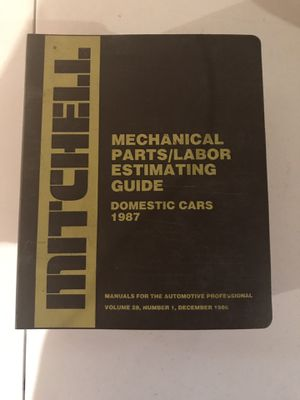 Mitchell Mechanical Parts/Labor Estimating Guide Domestic Cars 1987 for Sale in Fort Wayne, IN