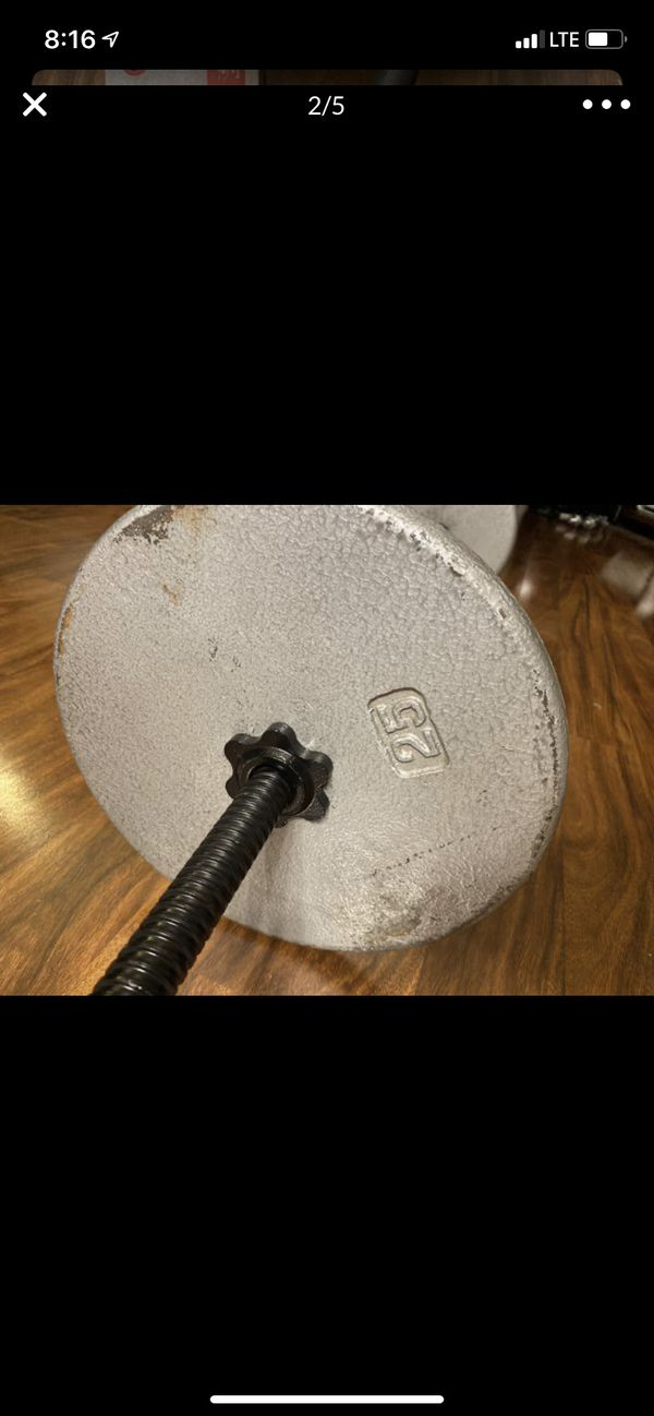 Curl up bar with weights
