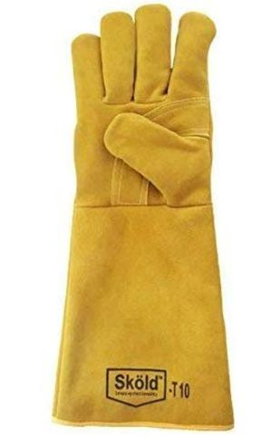 Skold Welding Gloves Heat Resistant Cow Split Leather BBQ/Camping/Cooking Gloves Baking Grill Gloves Welder Fireplace Stove for Sale in Victorville, CA