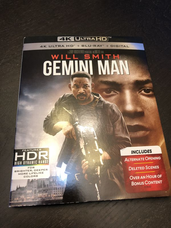 Gemini Man ultra HD 4K blu Ray like new