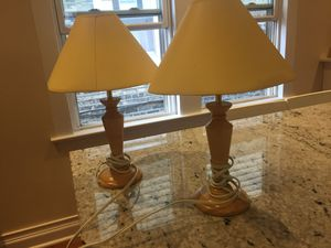 Two nightstand/desk lamps for Sale in Chicago, IL