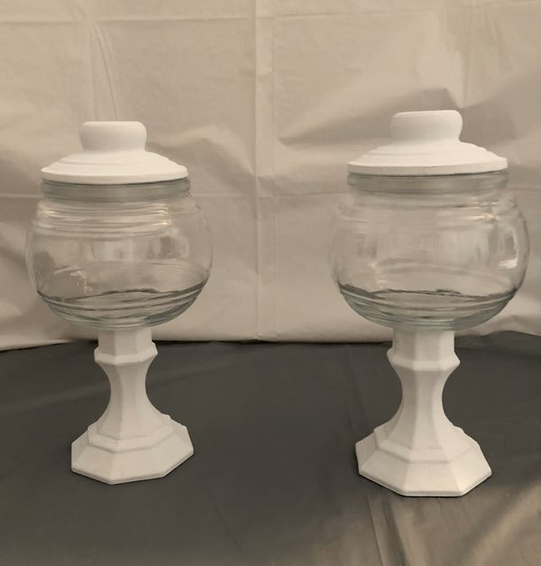 White Chalk Paint Jars (Set of 1, 2 or 3)