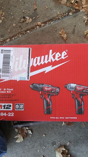 Milwaukee M12 2 tool combo kit drill and you're not nut driver combo listed at $150 at Home Depot asking $75 for Sale in Wheat Ridge, CO