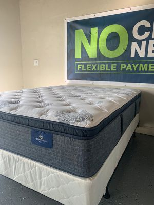 PILLOW TOP SERTA Queen & King Size mattress, NEW wrapped in plastic bed. for Sale in Poway, CA