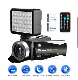 Camera/Camcorder, FHD, Night Vision Vlogging Camera 18x Zoom NEW ½ RETAIL for Sale in Virginia Beach, VA