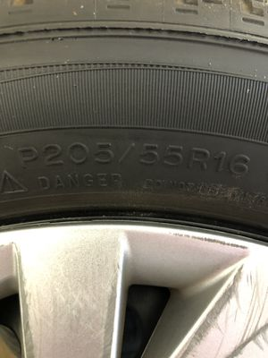 4 Michelin Rims and Tire. 5/100. 250/55R16 for Sale in Gaithersburg, MD