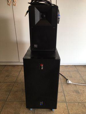 BIEMA IVA Professional Sound USA DJ equipments plus EV compact monitor speakers $350 for Sale in Norwalk, CA