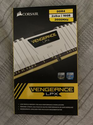 Corsair Vengeance LPX 2x8gb (16GB) DDDR4 2666 MHz Memory RAM White for Sale in Orlando, FL