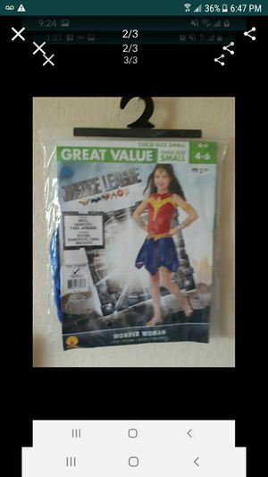 Girls Wonder Woman costume size 4 to 6 brand new for Sale in Kent, WA