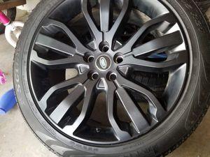 21 oem range rover wheels n tires for Sale in Boston, MA