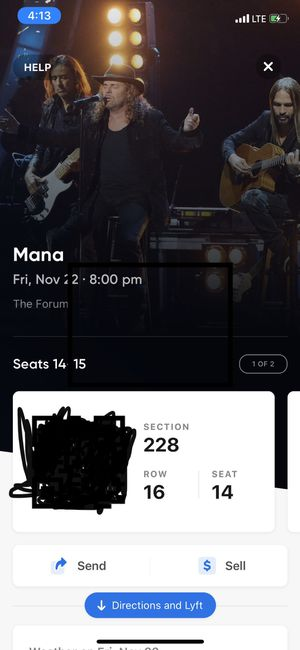 Mana Friday Nov 22 @ The Forum for Sale in Hawthorne, CA