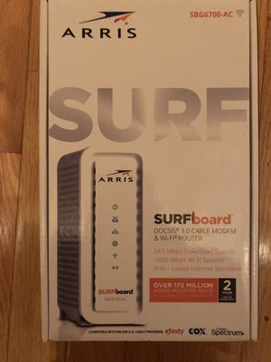 New Arris Surfboard SBG6700-AC Docsis 3.0 Cable Modem & WiFi Router for Sale in Fitchburg, MA