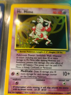 MR. MIME POKEMON HOLO for Sale in Las Vegas, NV