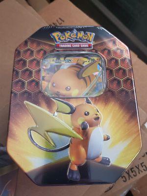 Pokémon Hidden Fates Raichu-GX Tin Factory sealed for Sale in Artesia, CA