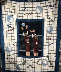 Volleyball Woven Throw Blanket Tapestry Textile w/ Fringe for Sale in West Linn,  OR