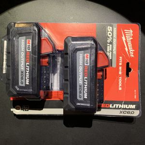 Milwaukee 6.0 Red Lithium Ion Double Pack for Sale in Carson, CA
