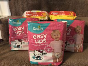 Pampers Easy Ups 3t ~ 4t & Wipes for Sale in Fort Worth, TX