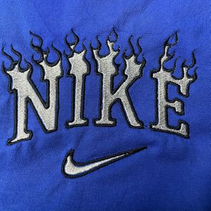 Custom Nike Flame Embroidered On unisex Long Sleeve for Sale in Bear, DE